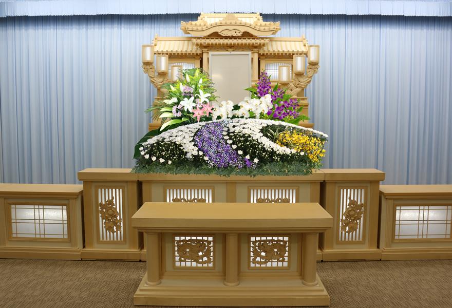 生花祭壇プラン 紫苑