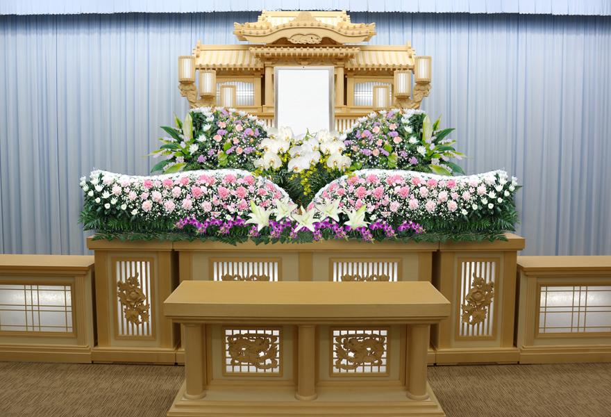 生花祭壇プラン 白百合